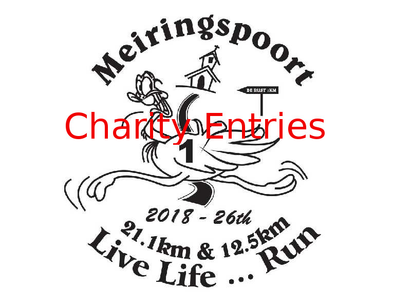 MEIRINGSPOORT 21.1km & 12.5km Charity Entry