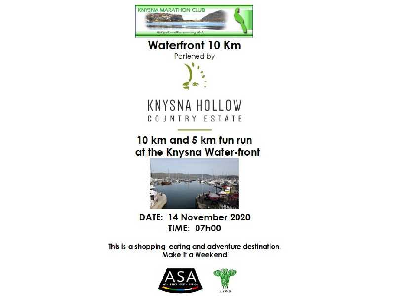 Waterfront 10km and Fun Run presented by Knysna Hollow